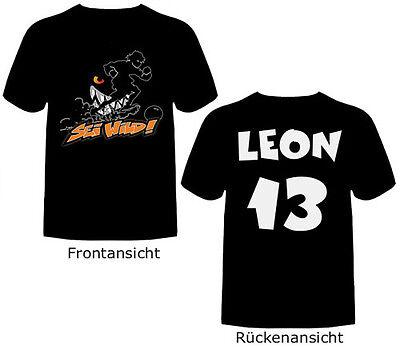 Wilde Kerle T-Shirt SEI WILD mit Wunsch-Name und Nummer Die Wilden Fussballkerle