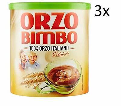 3X Orzo Bimbo Italy Instant Soluble Barley Coffee Grain 120 gr
