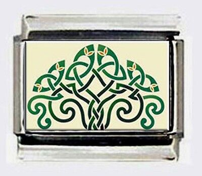 CELTIC TREE OF LIFE 9mm CUSTOMIZED Photo Italian LINK charms for bracelets   (Live Italian Charm)
