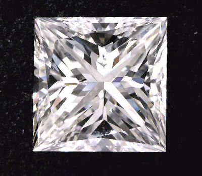 1.01 carat Princess cut Diamond GIA F color VS2 clarity no fl. Excellent loose