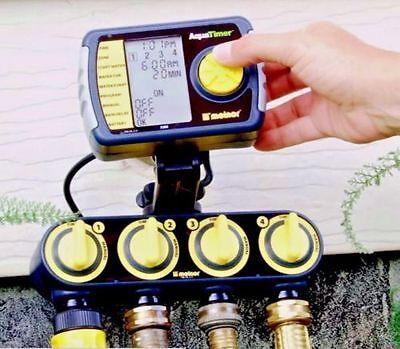 4-Zone Automatic Watering System Garden Irrigation Digital Sprinkler Lawn Timer