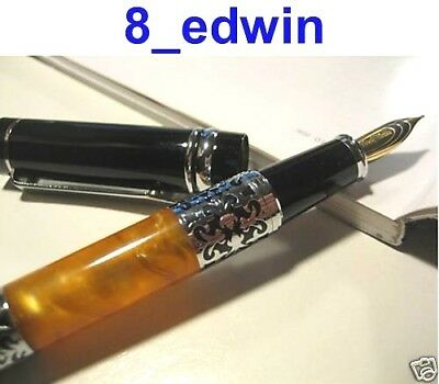 Beautiful Solid Replica Amber Heavy Body Fountain Pen