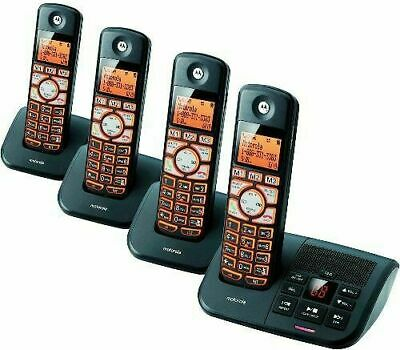 Cordless Phone System 4 Handsets Motorola DECT 6.0 Answering Machine Caller ID Caller Id Answering System
