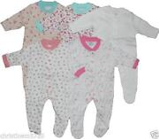 Girls Newborn Sleepsuits