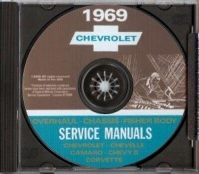 CHEVROLET 1969 Camaro, Nova, Chevelle, Malibu, El Camino Shop Manual CD Chevy El Camino Shop
