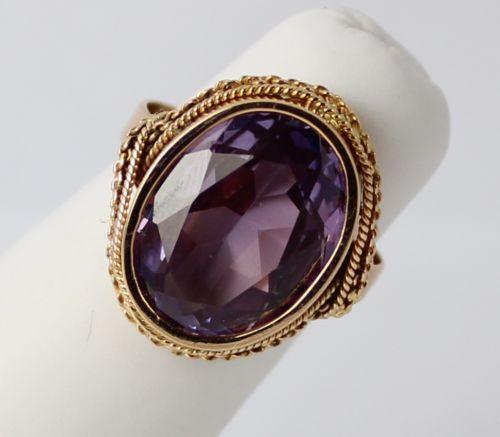 Alexandrite Gold Ring Ebay
