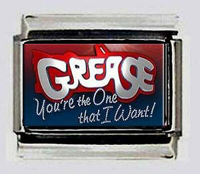 GREASE car musical LOGO photo custom 9mm Italian MODULAR Charm LINKS