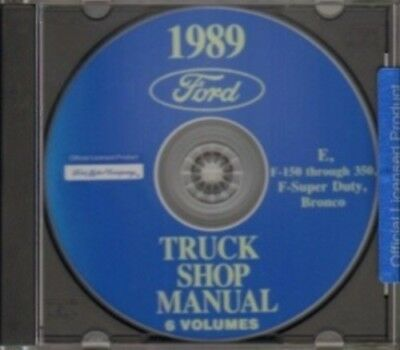 FORD 1989 Bronco, Econoline, F150-F350 & Super Duty Pick Up Truck Shop Manual CD