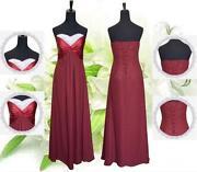 Burgundy Prom Dress Size 10