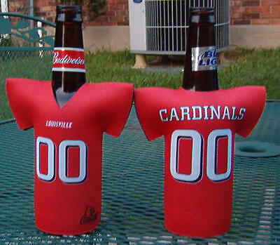 University Of Louisville Cardinal Football - 2-UNIVERSITY OF LOUISVILLE CARDINALS FOOTBALL JERSEY KOOZIE FREE SHIP