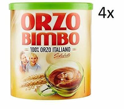4X Orzo Bimbo Italy Instant Soluble Barley Coffee Grain 120 gr