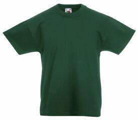 3 brand new boys green tshirts - stedman brand