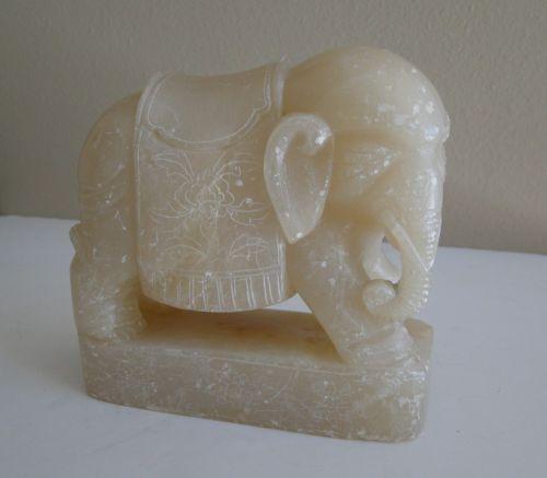 Red Soapstone Blocks : Carved soapstone elephant ebay