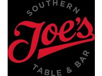 Supervisor's - Joe's Covent Garden. Min 1 year experience.