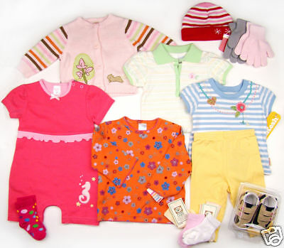Lot of Girl Clothes Sets Shoes Outfits 0-18 months newborn Gymboree Kushies baby ()