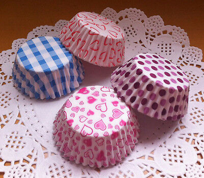 100 Colorful Mini Cupcake Liners Muffin Case ...