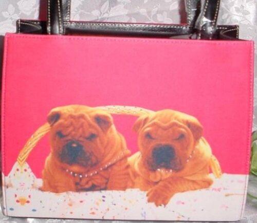 Sharpei Microfiber Box Style Handbag