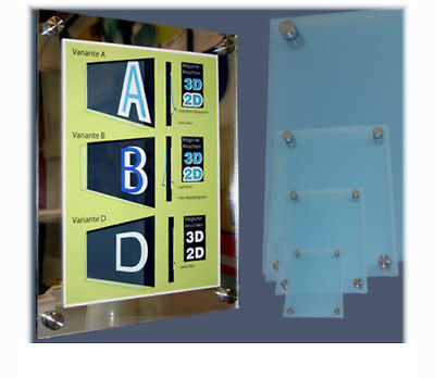 Doppelglas Acryl Schild Praxisschilder mit Umrandung für Papiereinlagen