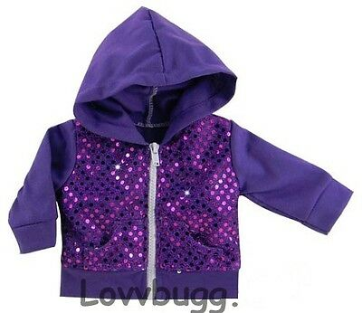 ff17a2031 Lovvbugg Purple Jacket Coat Hoodie for 18 inch American Girl Doll ...