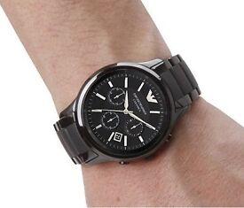 Authentic Emporio Armani AR1452 Ceramica Ceramic Chronograph watch