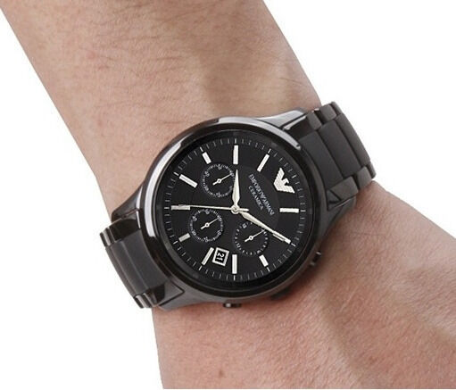 new emporio armani men watch ar1452 black ceramic chronograph 2 new emporio armani men watch ar1452 black ceramic chronograph 2 year warranty