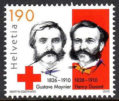 Switzerland 1391, MNH. G. Moynier & H. Dunant, Founders of Intl. Red Cross,2010