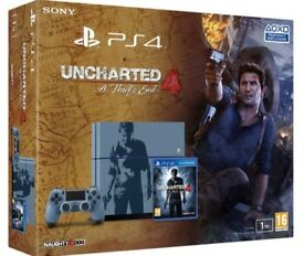 PS4 1TB Uncharted Edition As NEW + Uncharted 1,2,3