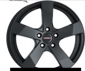 15 inch Matt black decent alloy wheels