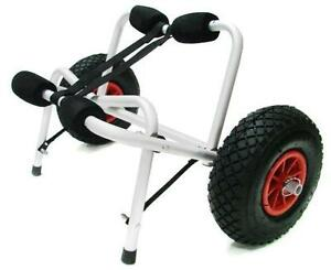New-Aluminum-Kayak-Jon-Boat-Canoe-Gear-Dolly-Cart-Trailer-Carrier-Trolley-Wheels