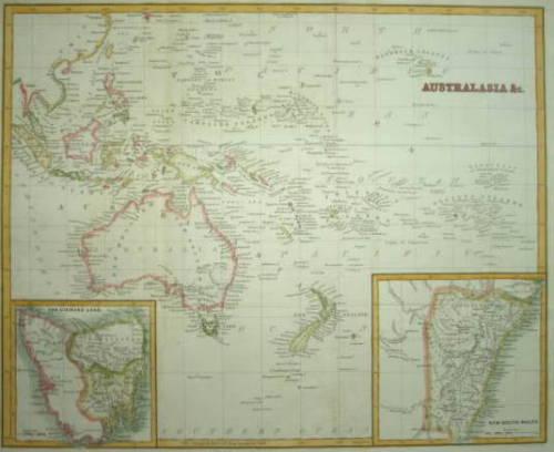 AUSTRALASIA - BLACKIE & SON, CIRCA 1870.