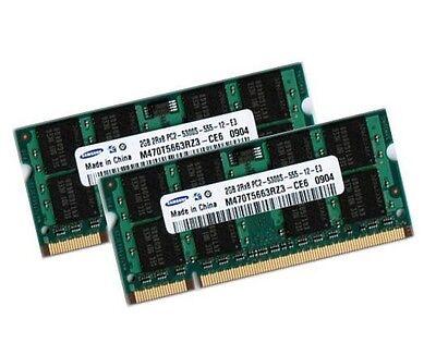 667 Sodimm Speicher (2x 2GB 4GB Fujitsu Siemens Esprimo Mobile V5535 V5545 Speicher RAM SODIMM 667Mhz)