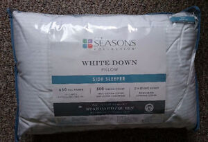 The Seasons Collection® White Down Queen Side Sleeper Pillow