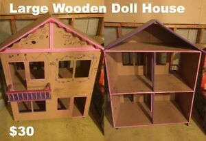 Doll House Dollhouse Large Wooden