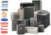 NEW FURNACE LENNOX AND YORK ONLY:- $1799