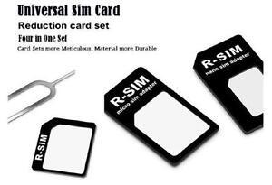 4-in-1 Sim Card Adapters - Micro+Standard+Nano Sim Card Adapters