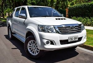 2013 Toyota Hilux KUN26R MY12 SR5 Double Cab White 4 Speed Automatic Utility Medindie Walkerville Area Preview