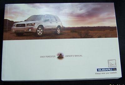 2003 subaru forester owners manual new original parts service Subaru Forester Owners Manual