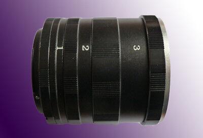 Macro Tubo de Extensión Juego rosca para Canon EOS 77d, 200d, 80d,...