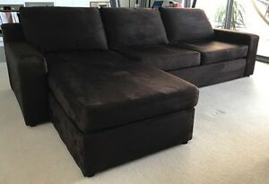 SOFABED with left storage chaise Waitara Hornsby Area Preview