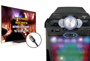 SINGING MACHINE VIBE HI-DEF KARAOKE SYSTEM PARTY PACK