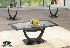 THIS BRAND NEW GLASS TABLE IS ON SALE FOR ONLY $199.99