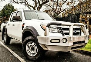 2010 Ford Ranger PK XL Crew Cab White 5 Speed Manual Utility Medindie Walkerville Area Preview