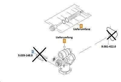 Hochdruckreiniger Teile (KÄRCHER Steuerkopf Ersatzteil Hochdruckreiniger neu: 9.755-286.0 (9.762-145.0))