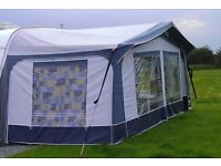 Dorema awning with curtains