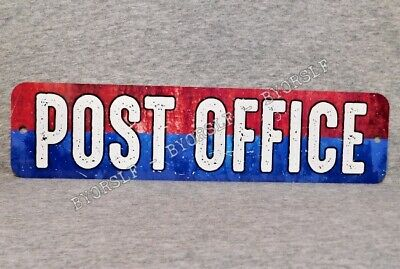 Metal Sign POST OFFICE United States USPS postal service mailman mail carrier