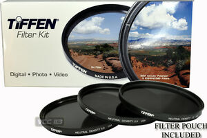 77mm-TIFFEN-Filter-Kit-ND-NEUTRAL-DENSITY-0-6-0-9-1-2-ND4-ND8-ND16-Made-in-USA
