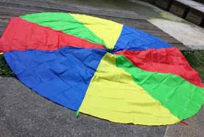 """Rainbow Parachute Beach Blanket Picnic Game Mat 1.8M 71"""" 5.9 feet NEW"""