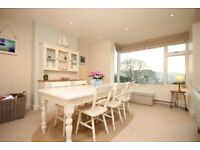 Super large cream pine farmhouse table