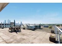 3 BEDROOM 3 BATHROOM PENTHOUSE WITH HUGE PRIVATE ROOF TERRACE SOUGHT AFTER LOCATION IN E14 ONLY £800