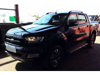Black Ford Ranger 3.2TDCi 4x4 2016MY Wildtrak FROM £88 PER WEEK!